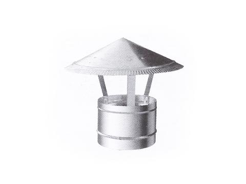 Зонтик крышный D 150 мм оцинкованная сталь