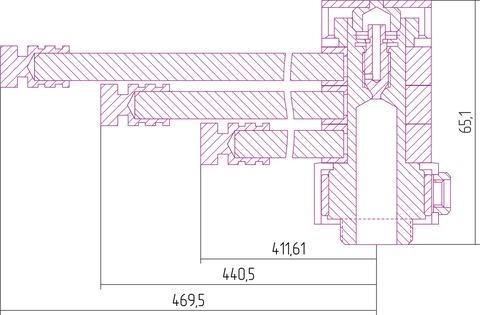 Вешалка Сунержа ВЕЕР L 470 для водяных полотенцесушителей